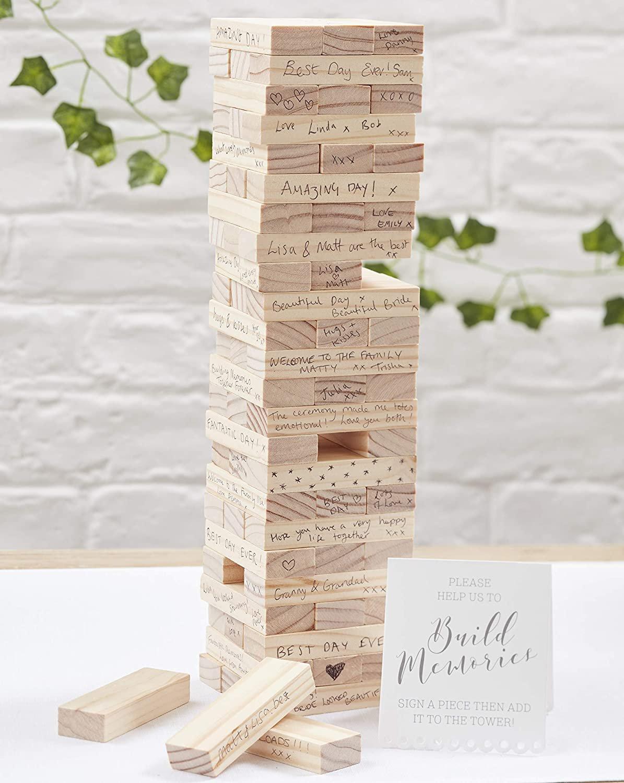 Ginger Ray Build A Memory Block Alternative Wedding Guest Book - Beautiful Botanics!