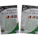 """Therm O Web Sticky Dot Die-Cut Adhesive Sheets 12/Pkg - 4.25"""" x 5.5"""" - Lot of 2 Packs!"""