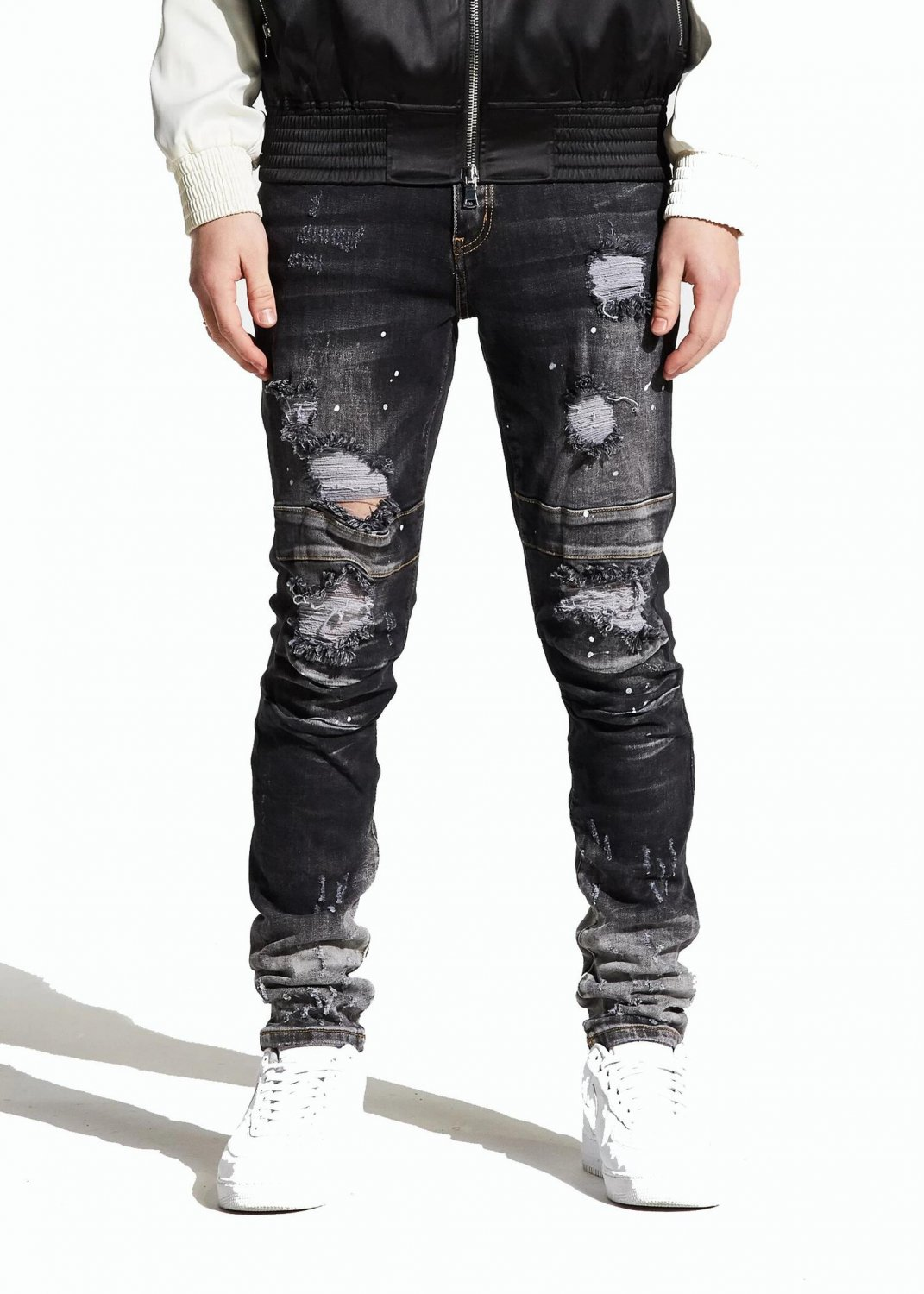 Crysp Denim Men's DUNCAN Jeans CRYSP119-124 - Black - Size 40 - Easy relaxed fit NWTS!