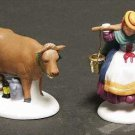 Dept. 56 'Eight Maids A-Milking' #8 - The 12 Days of Dickens Village Series Set of 2 - SEALED!