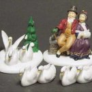 Dept. 56 'Seven Swans A-Swimming' #7 - The 12 Days of Dickens Village Series Set of 4!