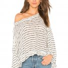 Free People OB776689 Women's Striped Island Girl Hacci Top - Size XS - 100% Cotton - NWT!