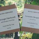 Moss + Brooke Handcrafted Bar Soap - Lavender Nergamot and Orange Patchouli - Set of 2!
