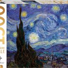 Mindbogglers Gold: Starry Night by Van Gogh 1500 Piece Jigsaw Puzzle - 33in. x 26in.!