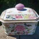 Vintage Chinese Floral Covered Rectangular Dish!