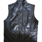 The Territory Ahead Crow's Journey Distressed Black Leather Biker Vest - Size M!