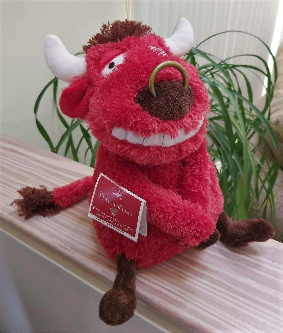 Hallmark El Toro of Love Animated Bull Stuffed Toy New with Tag!
