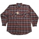 Moose Creek Mens Brown Plaid Flannel Button Down Shirt - Size 2XL - New with Tag!