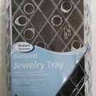 Whitmor Diamond Jewelry Tray, 40 Sections - Protective felt bottom liner!