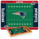 NFL New England Patriots – Icon Glass Top Cutting Board & Cheese Knife Set, (Rubberwood & Bamboo)!