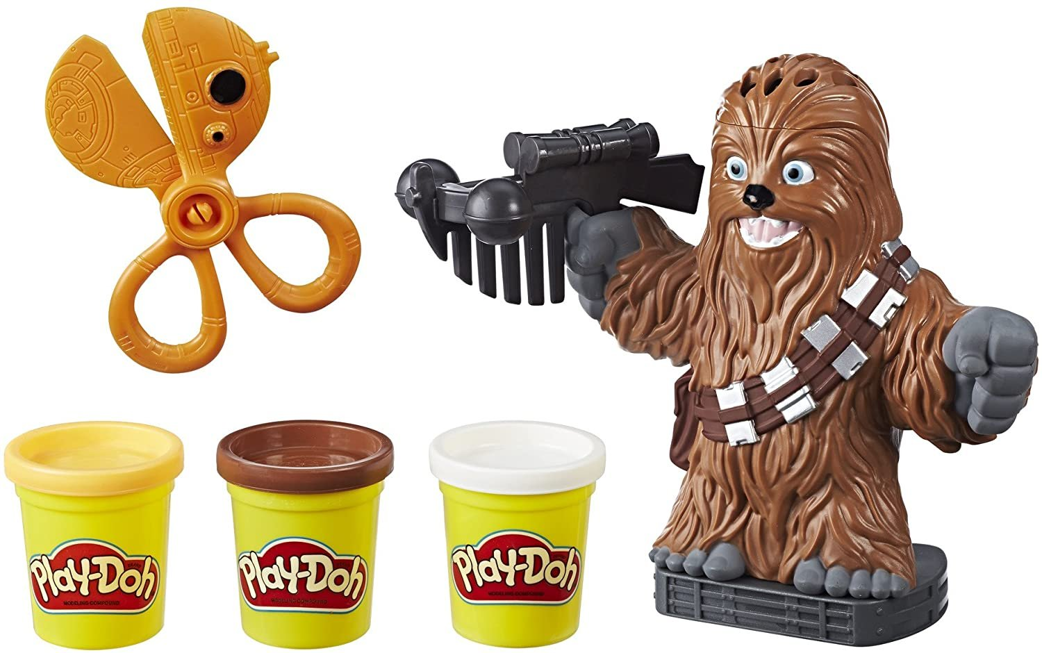 Play-Doh Star Wars Chewbacca Play Set, 2 oz. Cans of 3 Non-Toxic Colors!