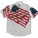 Cotton Trader Flag Shirt Size M - Patriotic Declaration of Independence American July 4th - NWOT!