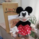 """Vintage 1989 Walt Disney Collectible Classics 17"""" Woodsculpt Series Minnie Mouse #15018 by Applause!"""