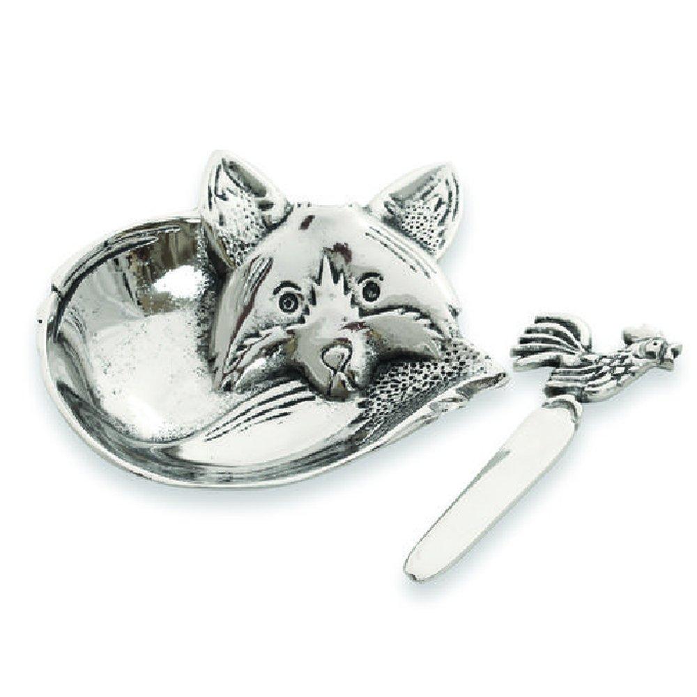 Fox sculptural, hand-cast aluminum Dip Serving Dish Set by Star Home!