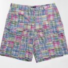 T. Harris London Men's Pastel Patchwork Madras Plaid Short - Size 38 - New with Tags!