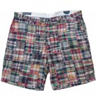 POLO Ralph Lauren Men's Classic Fit Patchwork Madras Short - Size 46B - New with Tag!