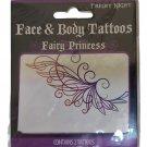 Fright Night Fairy Princess Face & Body Tattoos Temporary Tattoos - Lot of 2!