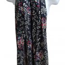 Patricia Nash Designs Large Scarf - Black Floral Print with Gold Accents - NWT!