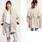 Free People Seamed Slouchy Linen Women's Coat Jacket - Oatmeal - Size M/L - NWT!