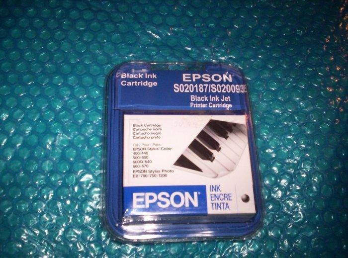 Epson S020187/SO20093 BLACK ink cartridge stk#(322)