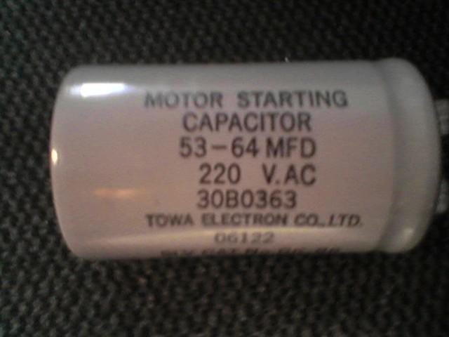 Liftmaster  / Sears    MOTOR  STARTING  CAPACITOR  30B0363    stk#(20)