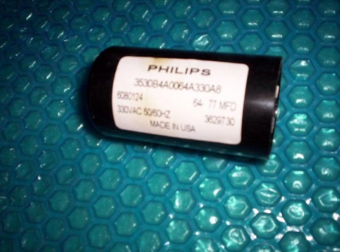 Philips Garage Opener Capacitor 64 77 Mfd