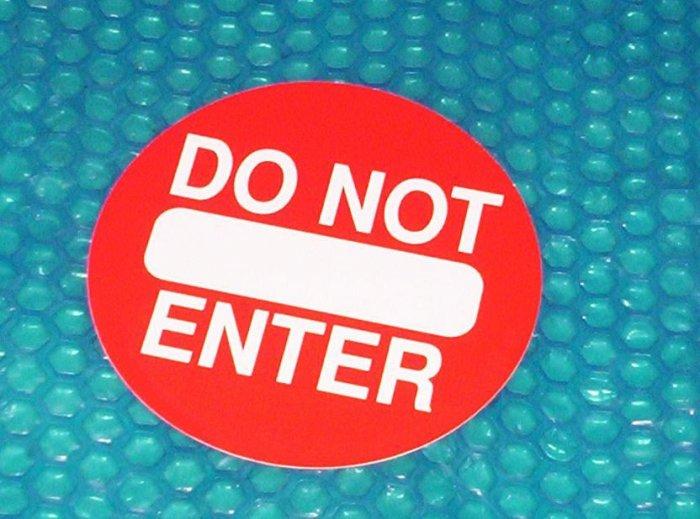 "Automatic Door ""Do Not Enter"" Label          (812)"