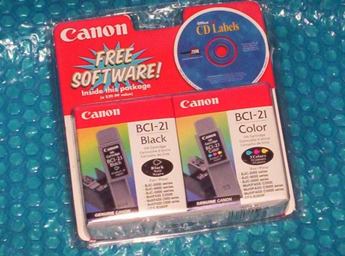 Canon Ink Cartridge  Color/ Black  BCI-21    (940)