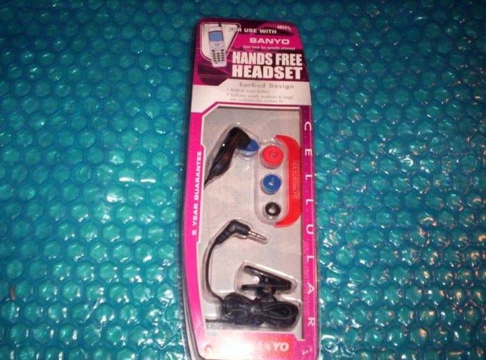 Sanyo Hands free Headset   40534   stk#(325)