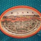 "Shipping Port  Decorative Platter 10""x14""   stk#(1006)"