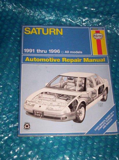 Saturn  Haynes Repair Manual 87010 (2083)    stk#(1128)