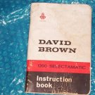 David Brown Tractor Instruction Book  publication No TP638 stk#(1224)