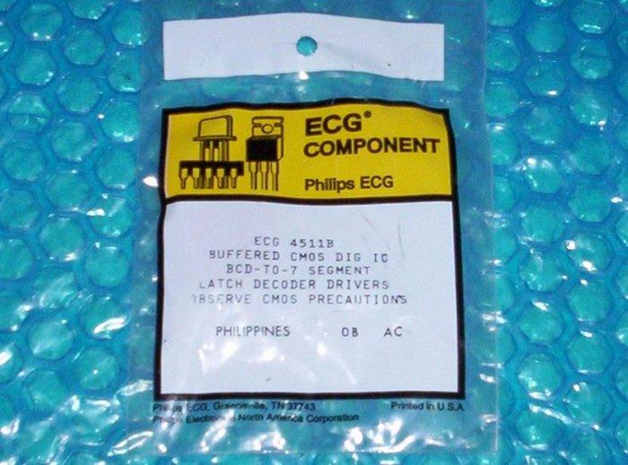 ECG Component Latch decoder drivers ECG 4511B   stk#(704)