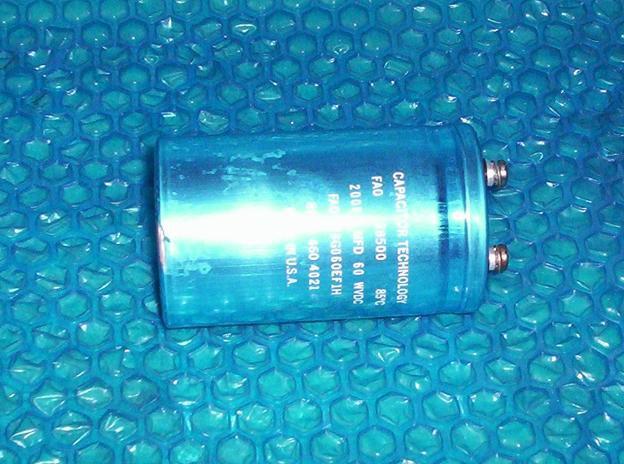 Capacitor 20000MFD 60WVDC FAO 203G060EF1H 8706 460 4021  stk#(1875)