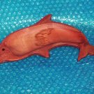 Hand carved wooden dolphin dish stk#(2033)