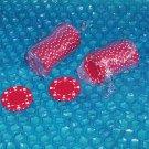 Poker chips Red stk#(2140)