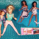 Barbie dolls, 1 pair of African American 3 White, stk#(610)