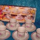 Emerald 12  cup & Saucer Set  stk#(2466)