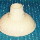 Vintage cone shaped Glass shade stk#(2497)