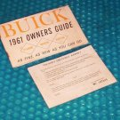 Buick OWNERS MANUAL 1961 stk#(701)