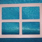 "GARAGE DOOR  WINDOW  Insert ""stockton""  12 1/2""x 16 1/2"" set of 8 stk#(2036)"