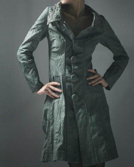 Moire Pattern Coat