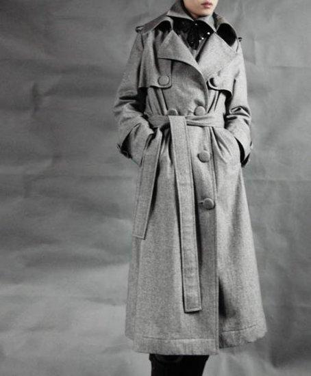 Paletot Grey Woolen Coat