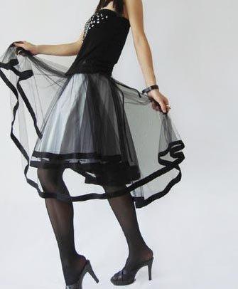 Black Gauze Skirt
