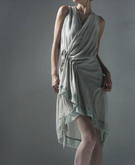 Light Color Straping Dress Lace Rim