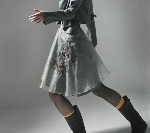 Gray Gauze Skirt or Top