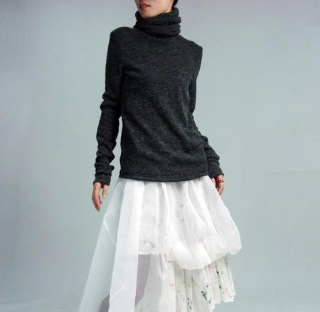 Dark Gray High Colar Sweater
