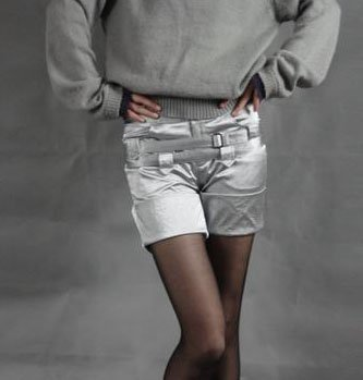Silvery Gray Fit Shorts