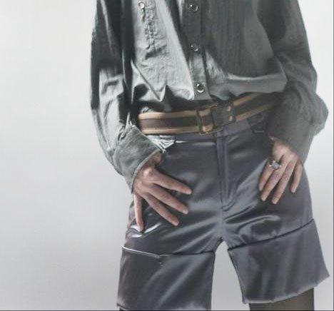 Dark Gray Wide Rim Shorts