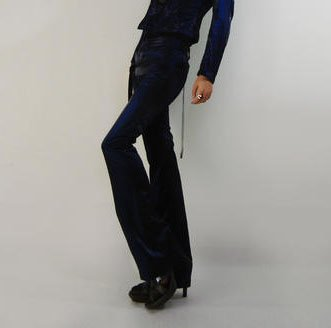 Dark Blue Fit Pants
